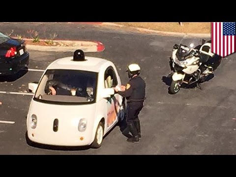 Google self-driving car pulled over by police for going too slow - TomoNews