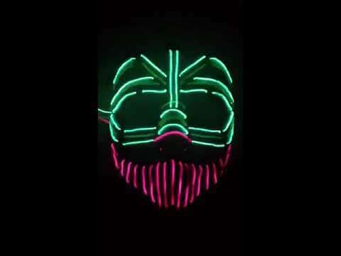 3 Channel EL Wire Mask pt 2 - YouTube