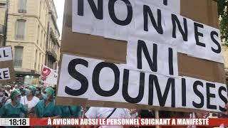 À Avignon aussi le personnel soignant a manifesté