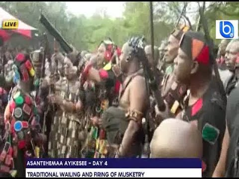 Chiefs fire guns at Ashanti evil forest (Ashanti Queen funeral)