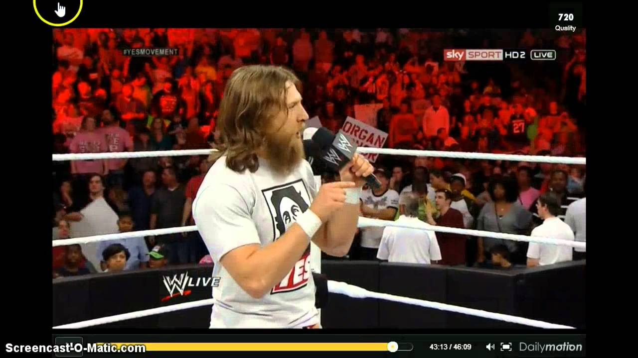 Monday Night Raw 3 10 14 Daniel Bryan and The Authority pt ...