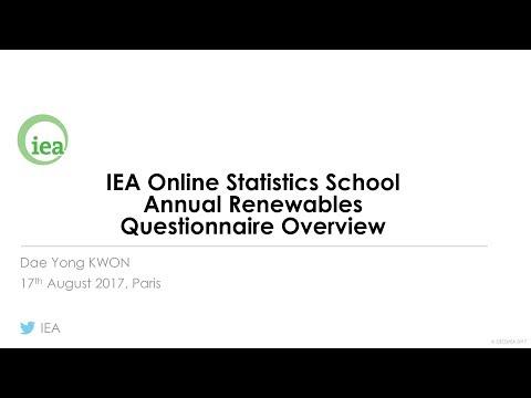 IEA Webinar : Annual Renewables Questionnaire