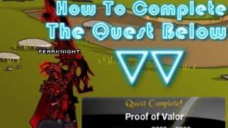 aqw proof of valor quest guide