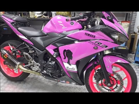 Yamaha YZF-R3 2018 Sport Bike Motorcycle Pink Painted Akrapovic Exhaust Racing Carbon S-Y3R1-APC