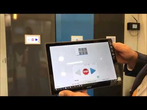 WIFI INTELLIGENT MOBILE SHELVING CONTROL SYSTEM  EXHIBITION DEMO VIDEO 2018