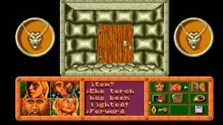 Dragonflight gameplay - Amiga (Thalion, 1990)