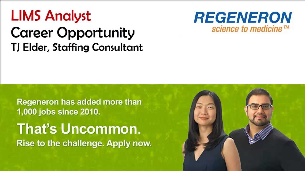 Regeneron Pharmaceutical Lims Analyst Careers Laboratory