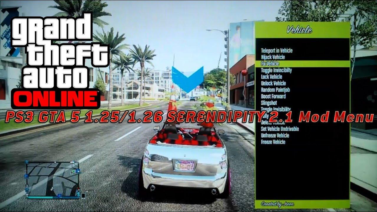 PS3 GTA 5 125126 SERENDIPITY 21 Mod Menu YouTube