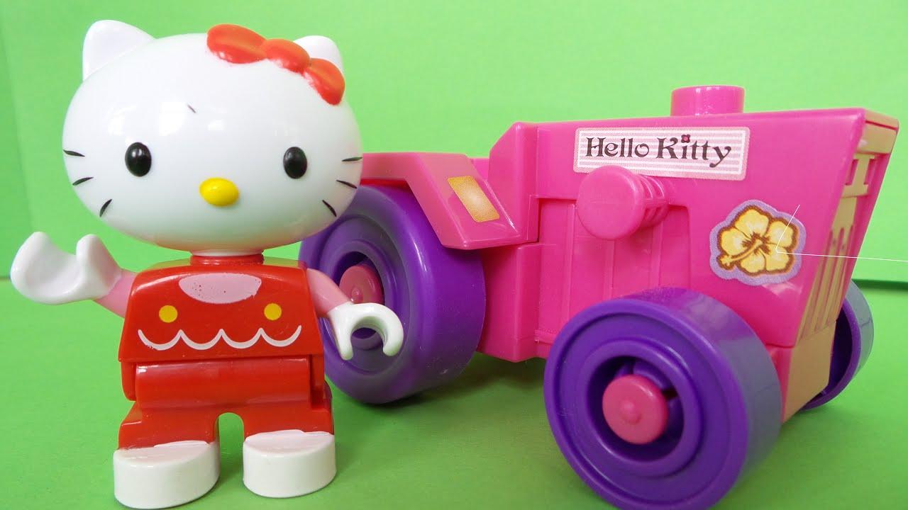 Hello kitty lego duplo blokken boerderij uitpakken hello - Lego hello kitty maison ...
