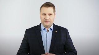 Minister Przemysław Czarnek zachęca uczniów do udziału konkursie Hack Junior