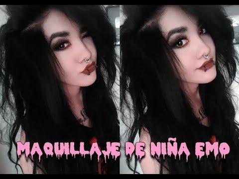 """💕 Maquillaje para niñas ¿SAD? / """"DEPRESIVAS"""" / EMOS ♡ xD💀"""