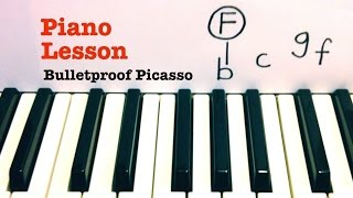 Bulletproof Picasso ★ Piano Lesson ★ EASY TUTORIAL ★ Train