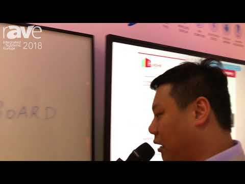 ISE 2018: Hanshin International Explains eNote Flip-Chart With Real Time Sharing
