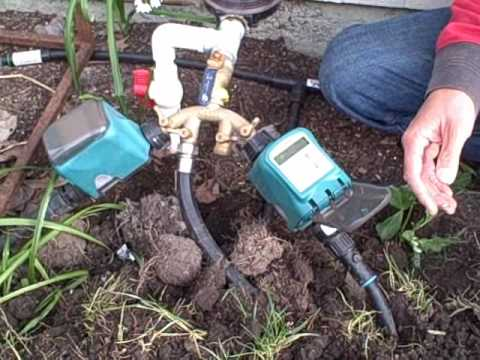 How To Install A Drip Irrigation And Water Timer Using A