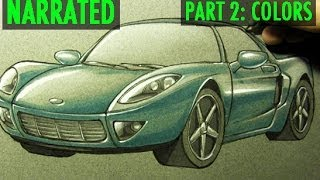 How to Draw a Car [Part 2: Colors]