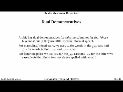 AGU 106: Demonstratives and Elatives