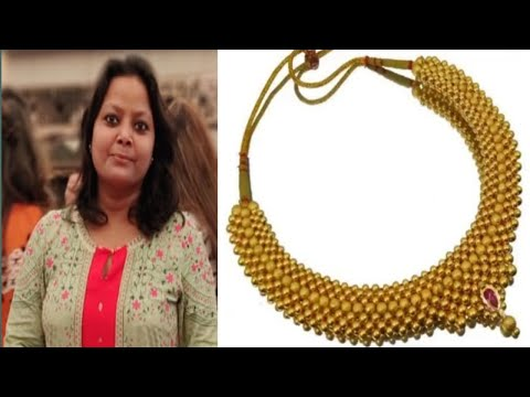 Maharashtra gold necklace designs//gold necklace designs