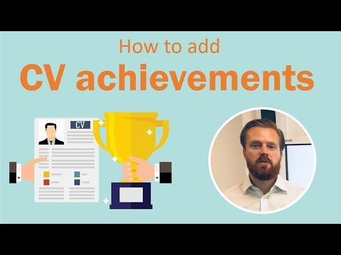 CV Achievements - How To Add Achievements To Your CV