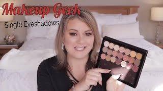 My Favourite Makeup Geek Single Eyeshadows - Swatches / Mature Beauty