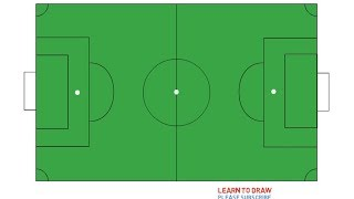 How To Draw a Soccer Field Step By Step Easy
