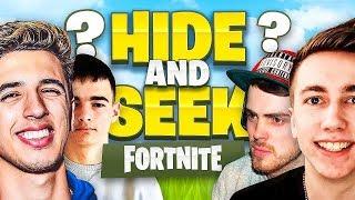 HIDE & SEEK IN FORTNITE! w/ Miniminter, NoahsNoah & Wizz