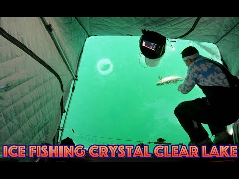Clear Ice Fishing - Lake Simcoe