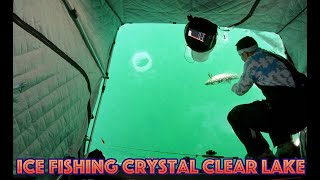 Clear Ice Fishing - Ląke Simcoe (Underwater Footage at 3:38)