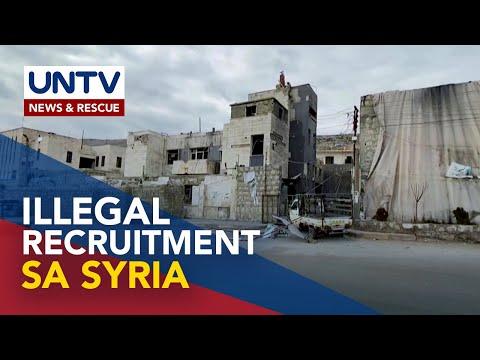 Illegal recruitment ng OFWs sa Syria, iniimbestigahan ng DOLE