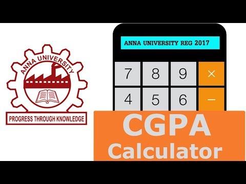 Anna University CGPA Calculator Regulation 2017 - Padeepz