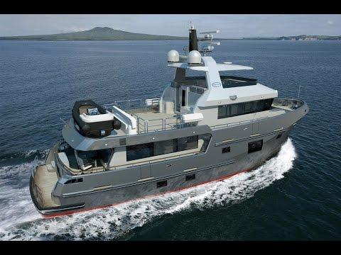 Bering 77 - Steel Expedition Luxury Trawler Yacht Rendering