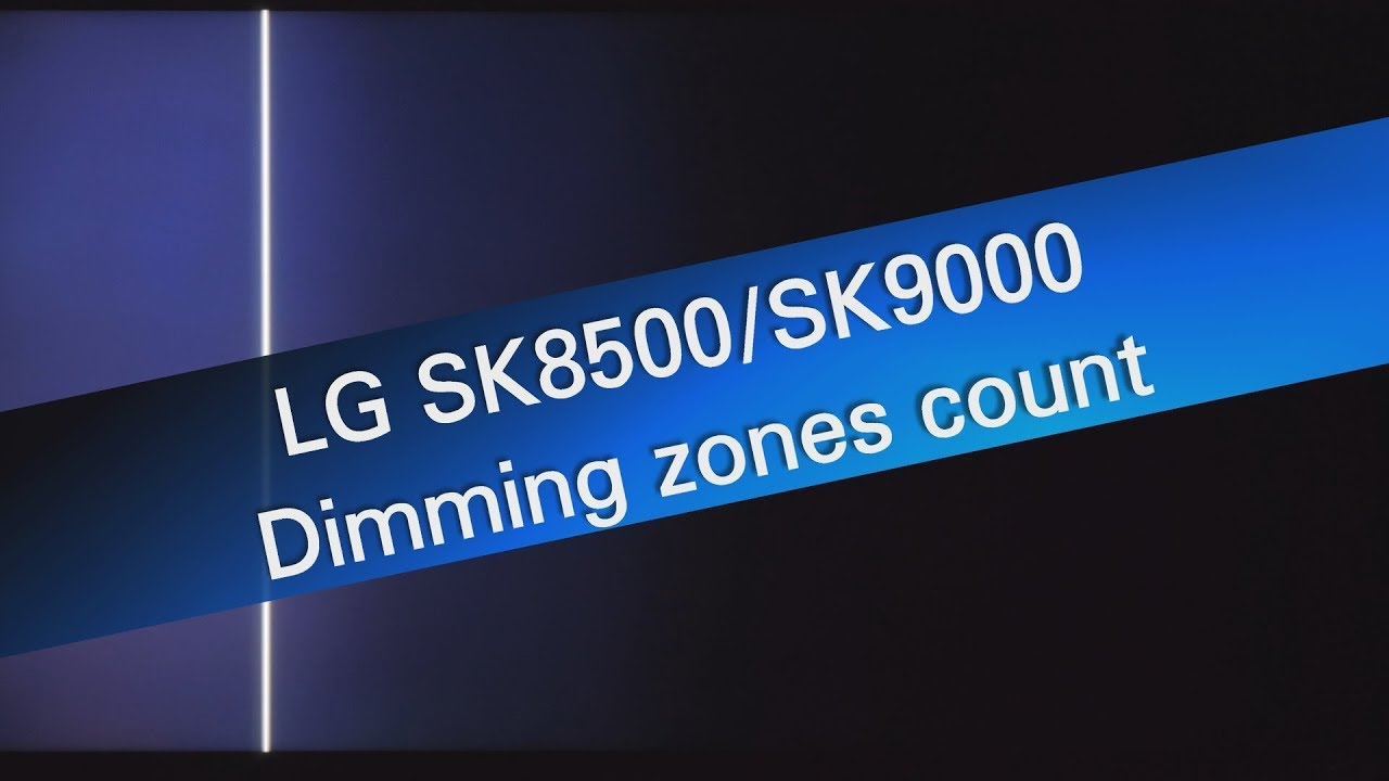 LG 49SK8500 local dimming test - 9x4 dimming zones