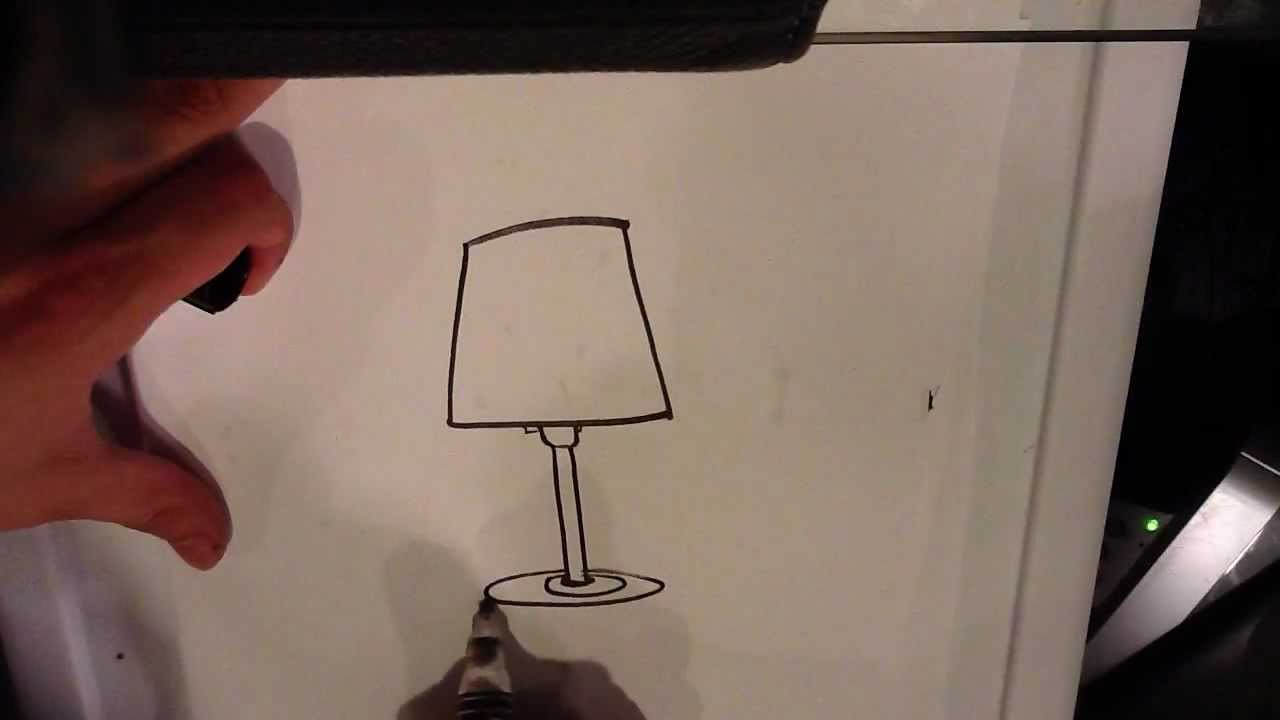 How To Draw A Lamp   Easy Things To Draw   YouTube