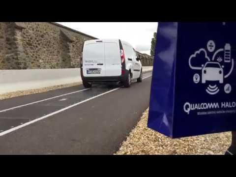 Qualcomm Halo Electric road concept in Versailles - France