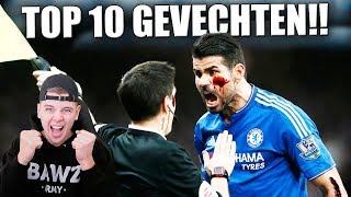 TOP 10 VOETBAL GEVECHTEN! SPELER VS SCHEIDS!!