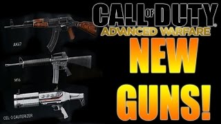 new guns ak47 m16 cel 3 cauterizer   call of duty advanced warfare