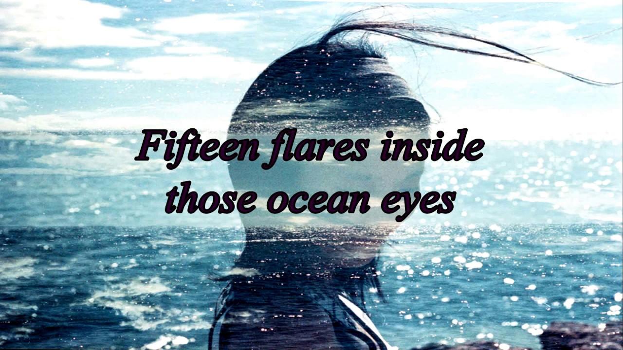 Lyrics Billie Eilish  Ocean Eyes Astronomyy Remix