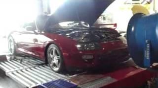 BPU 98 Toyota Supra Twin Turbo Dynoed at Static X Motorsports Run 1