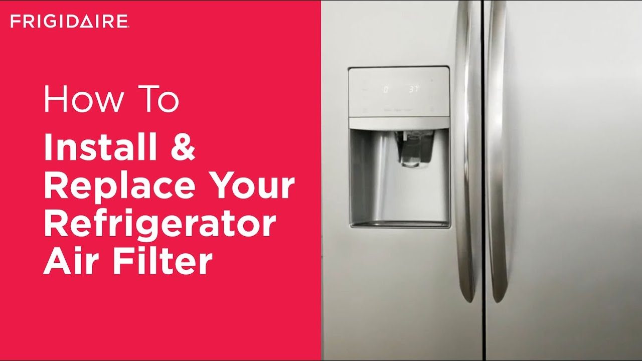 How To Install Your Frigidaire Air Filter Youtube