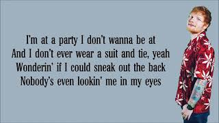 Ed sheeran- I don't care (lyrics) ft Justin bieber