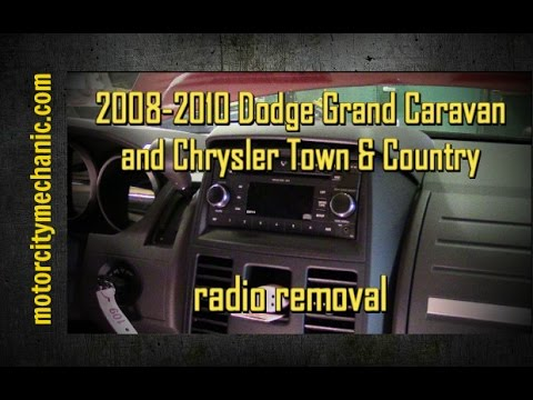 2008-2010 Dodge Grand Caravan And Chrysler Town And Country Radio Removal