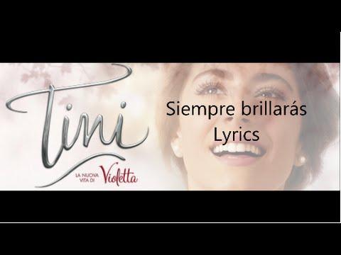 Tini Stoessel - Siempre Brillarás Letra❤