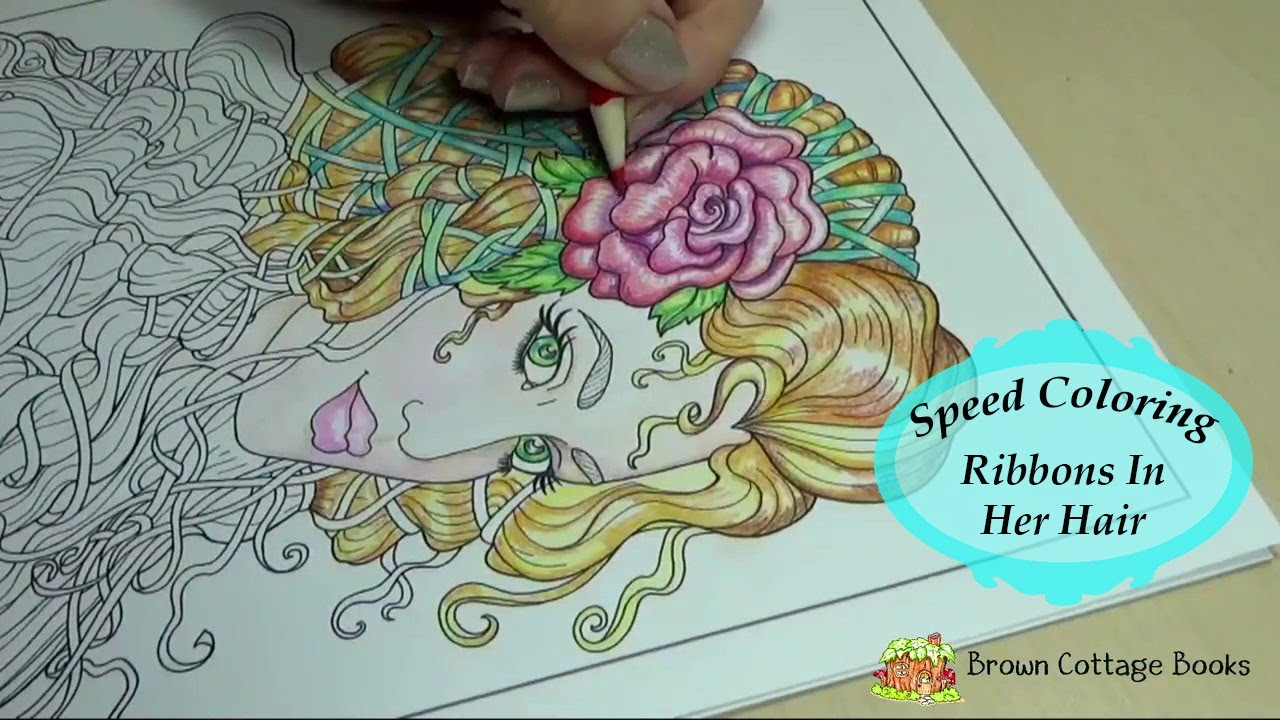 Colored Pencil Drawing Fantasy Maiden Adult Coloring Book SPEED PAINT How To Color Tutorial Brown Cottage Books