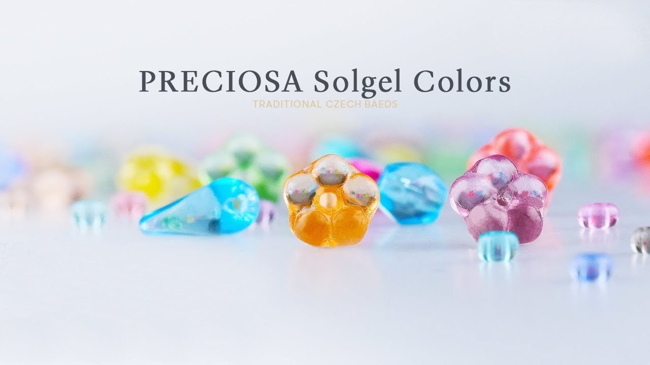 Preciosa Traditional Czech Beads Solgel Colors Youtube