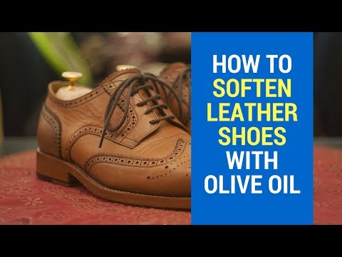 How To Soften Leather Shoes Fast With Olive Oil At Home | Coconut oil | Vaseline