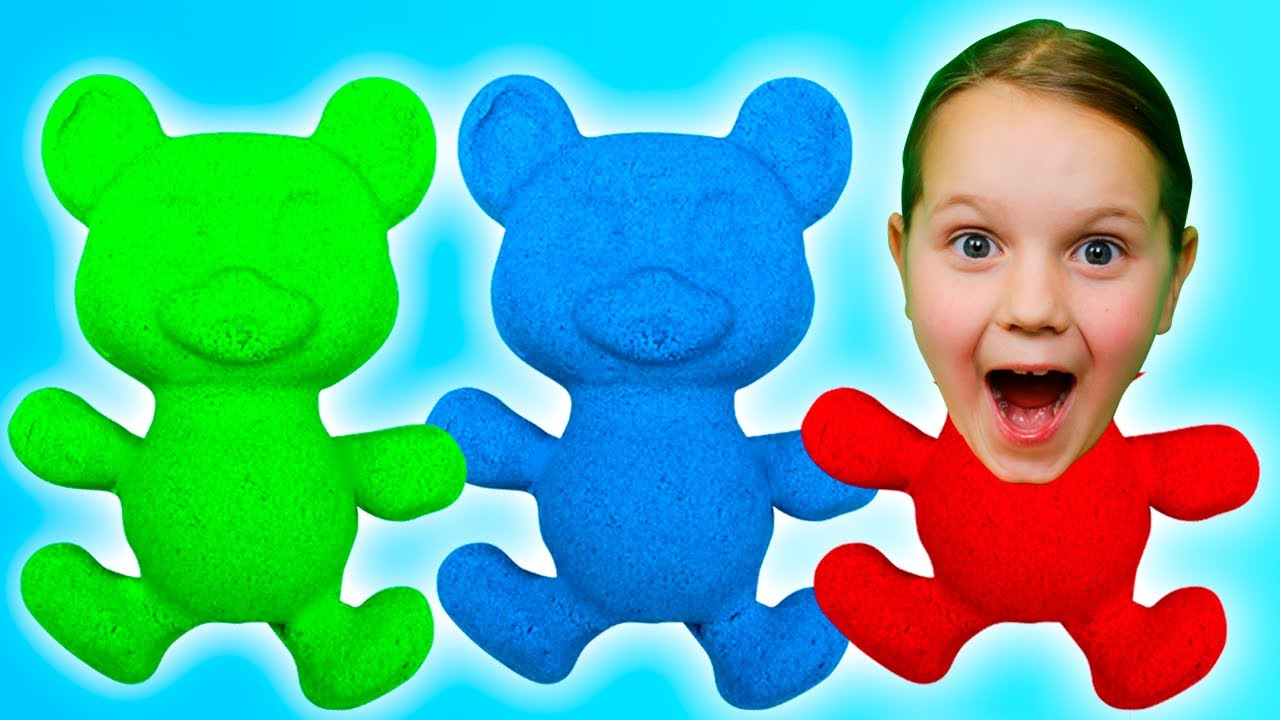 Play with Kinetic Sand and Learn Numbers   Fivekidz Family