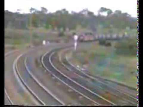 NSW 81 Class 8110 & 8131 42 Car Coal Train Hanbury Jct 1987