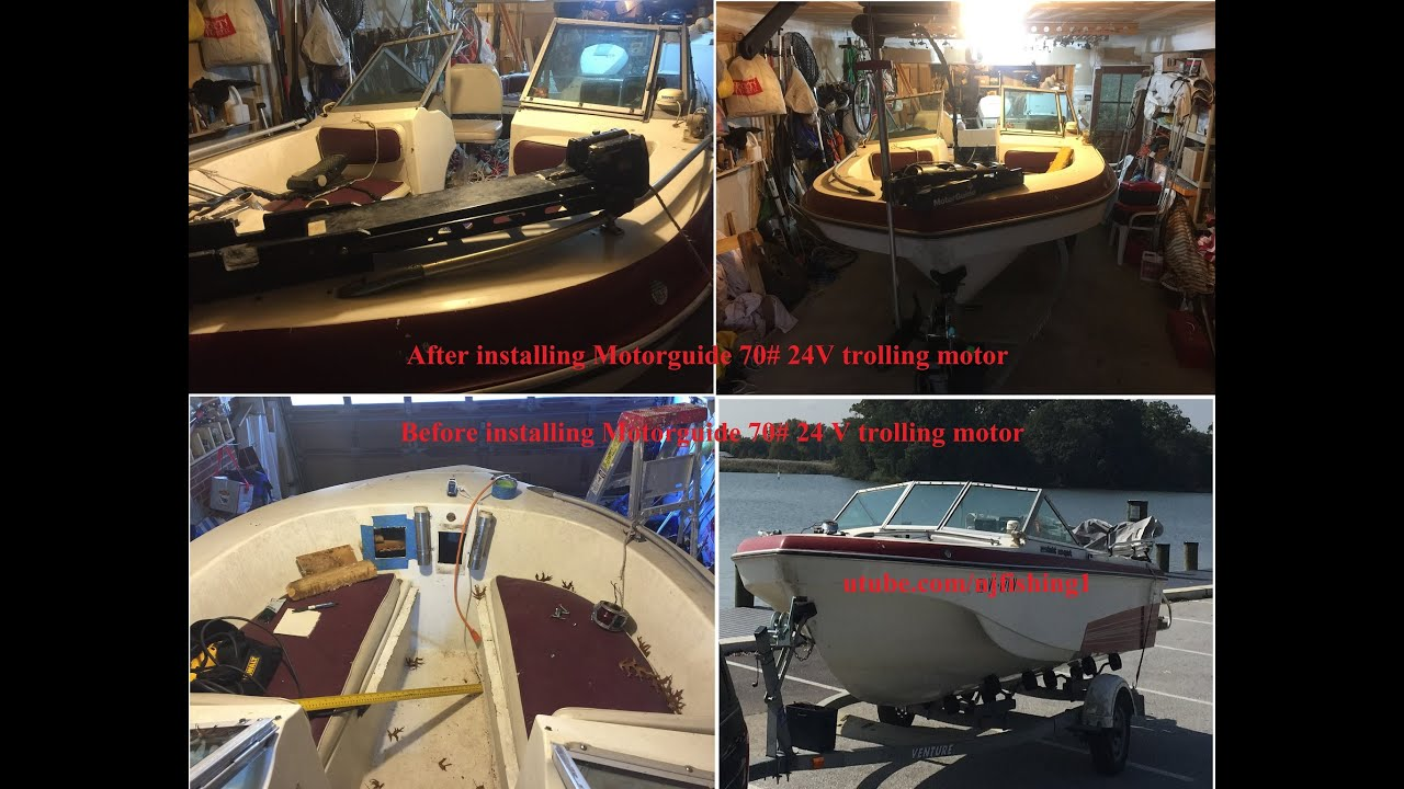 How To Install A Bow Mount For Motorguide Trolling Motor 70 Pounds Wire 24 Volt And Volts Youtube