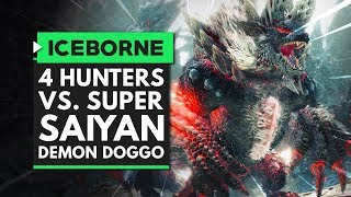 Monster Hunter World Iceborne   4 Hunters vs. Super Saiyan Demon Doggo - Stygian Zinogre Team Hunt