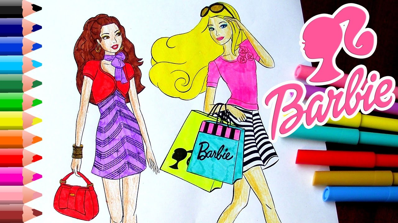 Coloring Pages For Barbie : Barbie coloring pages how to color barbie dress coloring pages