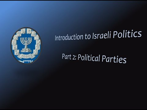 The Political Parties of Israel